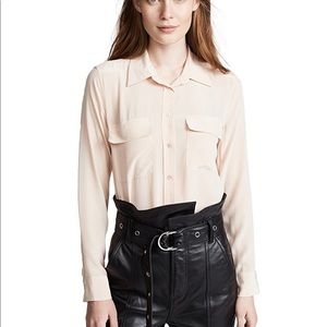 Equipment Signature Silk Blouse French Nude, Small